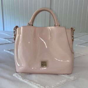 Dooney and Bourke/ Pink Patent Small Barlow Purse